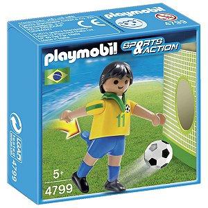 4799 PLAYMOBIL ESPORTES  JOGADOR DE FUTEBOL BRASIL