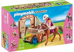 5518 PLAYMOBIL COUNTRY  CAVALO DE CORRIDA COM JOQUEI