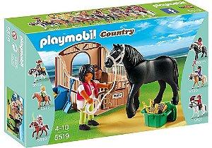 5519 PLAYMOBIL COUNTRY  CAVALO MANGA LARGA COM TRATADORA