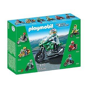 5524 PLAYMOBIL ESPORTES  MOTOS COLECIONAVEIS - SPORTS BIKE