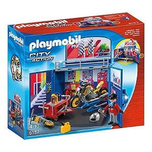 6157 PLAYMOBIL CIDADE PLAYBOX OFICINA DE MOTOCICLETA