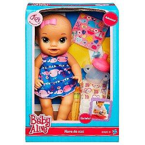 A9293 BABY ALIVE HORA DO XIXI MORENA (AZUL)