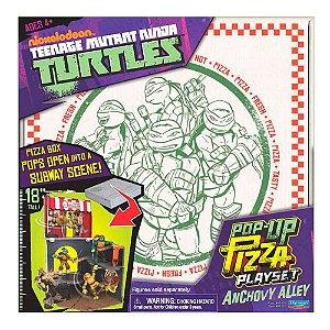 BR155 TMNT FIGURA AÇÃO 12CM PLAYSET PIZZA POP UP ALLEY