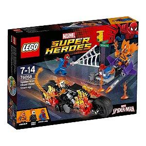 76058 LEGO MARVEL Homem-Aranha e Motoqueiro Fantasma