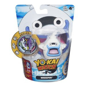 B5937 YO-KAI WATCH FIG C/ MEDALHA - WHISPER