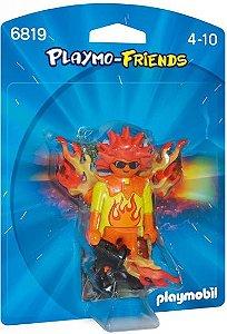 6819 PLAYMOBIL PLAYMO FRIENDS GUERREIRO FLAMEJANTE