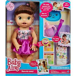 A8346 BABY ALIVE HORA DE COMER - MORENA