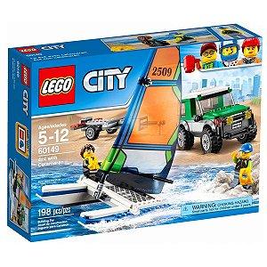 60149 LEGO CITY JEEP 4x4 com Barco a Vela