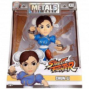 4134 STREET FIGHTER METAL DIECAST 10CM CHUN LI (M308)