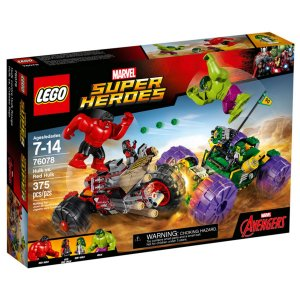 76078 LEGO MARVEL HULK CONTRA HULK VERMELHO