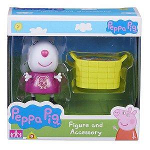 4199 PEPPA PIG OVELINHA SUZY COM CESTA DE BRINQUEDOS