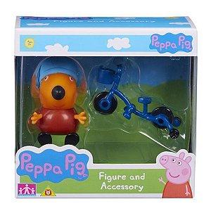 4199 PEPPA PIG RAPOSO FREDDY COM BICICLETA