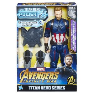 E0607 MARVEL TITAN HERO 30CM POWER FX CAPITÃO AMÉRICA