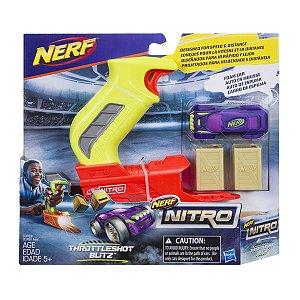 C0780 NERF NITRO THROTTLESHOT SORT -VERDE COM CARRO ROXO