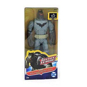 FBR17 DC COMICS LIGA DA JUSTIÇA BATMAN COM ARMADURA 15CM