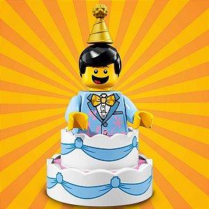 71021 LEGO FIGURAS SÉRIE 18 FESTA 40 ANOS SAINDO DO BOLO