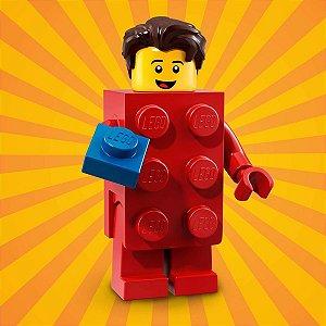 71021 LEGO FIGURAS SÉRIE 18 FESTA 40 ANOS BLOCO VERMELHO