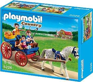 5226 PLAYMOBIL COUNTRY  CARRUAGEM PUXADA A CAVALOS
