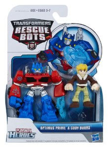 A0672 TRANSFORMES  RESCUE BOTS OPTIMUS PRIME E CODY