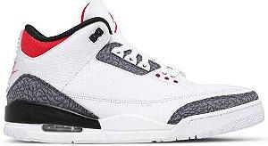 Tênis Nike Air Jordan 3 Retro Denim SE - Fire Red