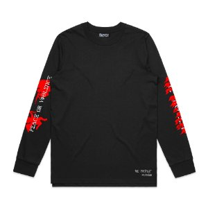 Camiseta Long Sleeve The Protest Peace or Violence - Black