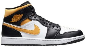 Tênis Nike Air Jordan 1 Mid - Black University Gold