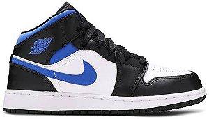 Tênis Nike Air Jordan 1 Mid - Racer Blue