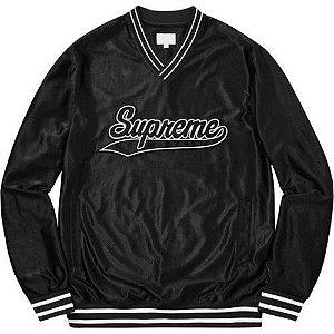 Jersey Supreme Baseball Warm Up Top Black