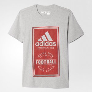 Camiseta Adidas Football Grind Now Rise Late