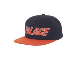 Boné 5-Panel Palace Font - Black/Orange