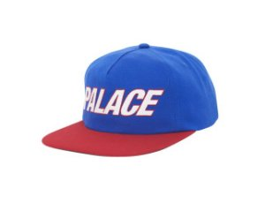 Boné 5-Panel Palace Font - Blue/Red