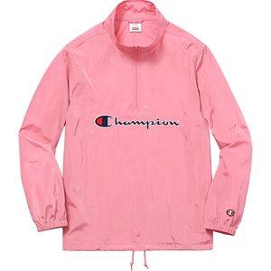 Jaqueta Supreme x Champion Half Zip Pullover - Pink