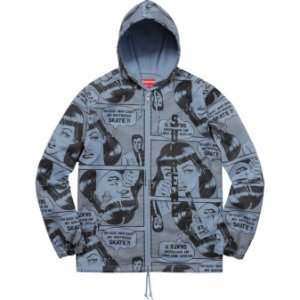Moletom Supreme x Thrasher® Boyfriend Hooded Zip Up Jacket Blue