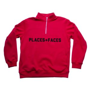 Half Zip Places+Faces Quarter - Red