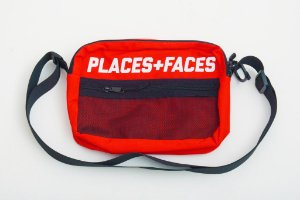 Places+Faces Refletive Pouch Bag - Red