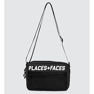 Places+Faces Refletive Pouch Bag - Black