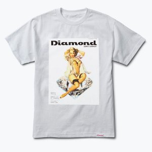 Camiseta Diamond Centerfold White