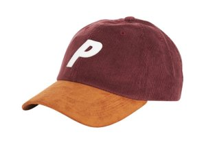 Boné 6 Panel Palace Cord Burgundy