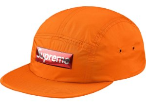 Boné 5-Panel Supreme Liquid Metal Logo - Orange
