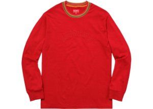 Long Sleeve Supreme Multicolor Striped Rib Top Dusty - Red