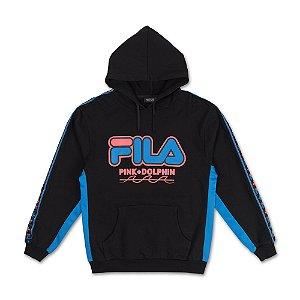 Moletom FILA® x Pink Dolphin Heritage Hoodie - Black
