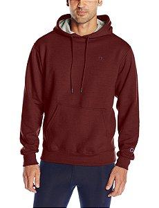 Moletom Champion Powerblend Fleece Pullover Hoodie - Dark Red
