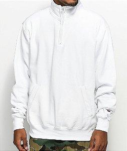 Champion Powerblend Quarter Zip Fleece Sweatshirt - White