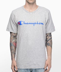 Camiseta Champion Script Heather - Grey