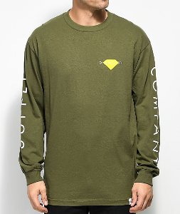 Camiseta Diamond Solid Long Sleeve - Olive