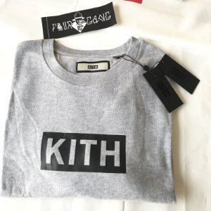 Camiseta Long Sleeve Kith Box Logo - Grey
