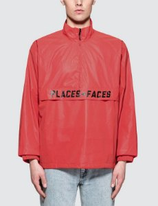 Jaqueta Places+Faces Reflective Zip Up - Red