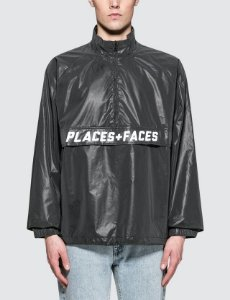 Jaqueta Places+Faces Reflective Zip Up - Black