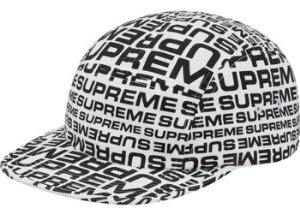 Boné 5-Panel Supreme Repeater Camp - White