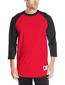 Camiseta Champion Raglan Baseball - Red/Black